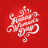 Concept illustration where it is written Happy Women`s Day royalty free illustration
