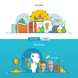 Concept of illustrations - innovation, new ideas and brain training. Stock Image