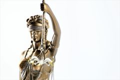 An concept image of a abstract justitia figure stock photography