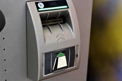 An concept image of a atm, bank, money royalty free stock images