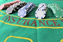 An concept image of casino chips - money, business royalty free stock photos
