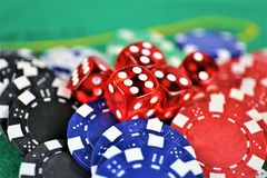An concept Image of a Casino gambling, chips royalty free stock image