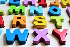 An concept Image of a colorful Alphabet, preschool - abc. An concept Image of a colorful Alphabet, preschool,  - abc Stock Photography