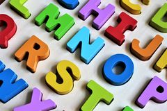 An concept Image of a colorful Alphabet, preschool - abc. An concept Image of a colorful Alphabet, preschool,  - abc Stock Photo