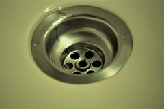 An concept Image of a drain - kitchen, bathroom royalty free stock photo