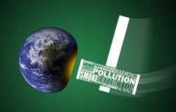 Concept image with earth's environmental problems Stock Image