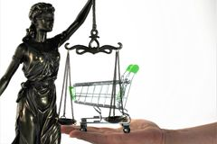 An concept image of ecommerce and law. Business - abstract Royalty Free Stock Photos