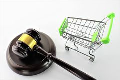 An concept image of ecommerce and law. Business - abstract Stock Image