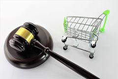 An concept image of ecommerce and law. Business - abstract Stock Photos