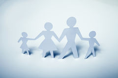 Concept image of family cutout paper Royalty Free Stock Images