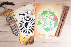 Concept image of Feng Shui. Conceptual image of Feng Shui with five elements royalty free stock image
