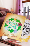 Concept image of Feng Shui. Conceptual image of Feng Shui with five elements royalty free stock photography