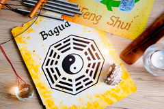 Concept image of Feng Shui. Conceptual image of Feng Shui with five elements royalty free stock photos