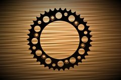 An concept image of a gear, technology, background. With copy space - abstract Stock Photography