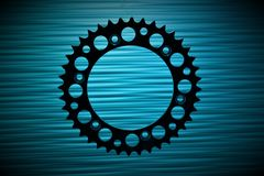 An concept image of a gear, technology, background. With copy space - abstract Stock Photo