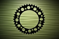 An concept image of a gear, technology, background. With copy space - abstract Stock Images