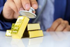 Concept image of gold bars Stock Photo