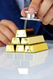 Concept image of gold bars Royalty Free Stock Photo