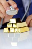 Concept image of gold bars Stock Photos