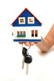 Concept image of a hand holding house keys Stock Image