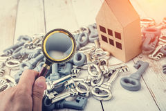 Concept image of a home inspection. Royalty Free Stock Photography