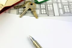 An concept Image of a house Agreement - mock up Stock Photo