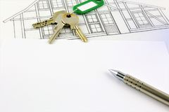 An concept Image of a house Agreement - mock up Stock Images