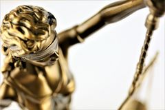 An concept Image of a Justitia statue, justice stock photos