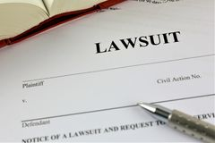 An concept Image of a lawsuit royalty free stock image