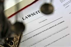 An concept Image of a lawsuit royalty free stock photo