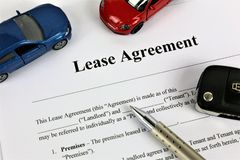 An concept Image of a lease agreement royalty free stock photos