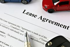 An concept Image of a lease agreement. Car - abstract Stock Photo