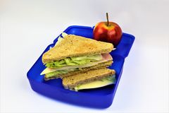 An concept Image of a lunch box, sandwich. Abstract Stock Photos