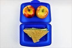 An concept Image of a lunch box, sandwich. Abstract Stock Photography