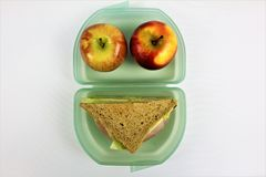 An concept Image of a lunch box, sandwich. Abstract Stock Image