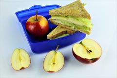 An concept Image of a lunch box, sandwich royalty free stock photos