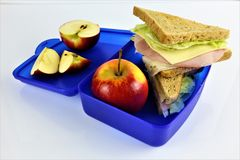 An concept Image of a lunch box, sandwich. Abstract Royalty Free Stock Photos