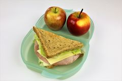 An concept Image of a lunch box, sandwich. Abstract Royalty Free Stock Image