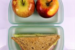 An concept Image of a lunch box, sandwich. Abstract Royalty Free Stock Images