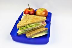 An concept Image of a lunch box, sandwich. Abstract Stock Photo