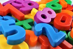 An concept Image of magnetic numbers. Pre school - abstract Royalty Free Stock Photography