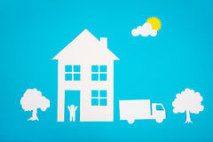 Concept image of make your a house Stock Photo