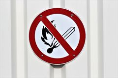 An concept image of a no fire sign with copy space. Abstract Royalty Free Stock Images