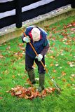 An concept Image of a old man doing gardening, work Royalty Free Stock Photo