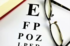 An concept Image of a optometry test - medicine royalty free stock photo
