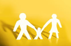 Concept image of paper cutout family Royalty Free Stock Images