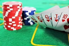 An concept image of a poker game, casino royalty free stock images