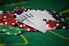 An concept Image of a poker table stock photography