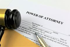An concept Image of a power of attorney, business, lawyer royalty free stock photos