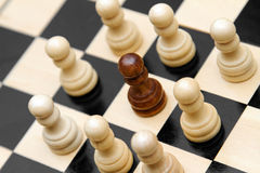 Concept image of racism. On chessboard Stock Image